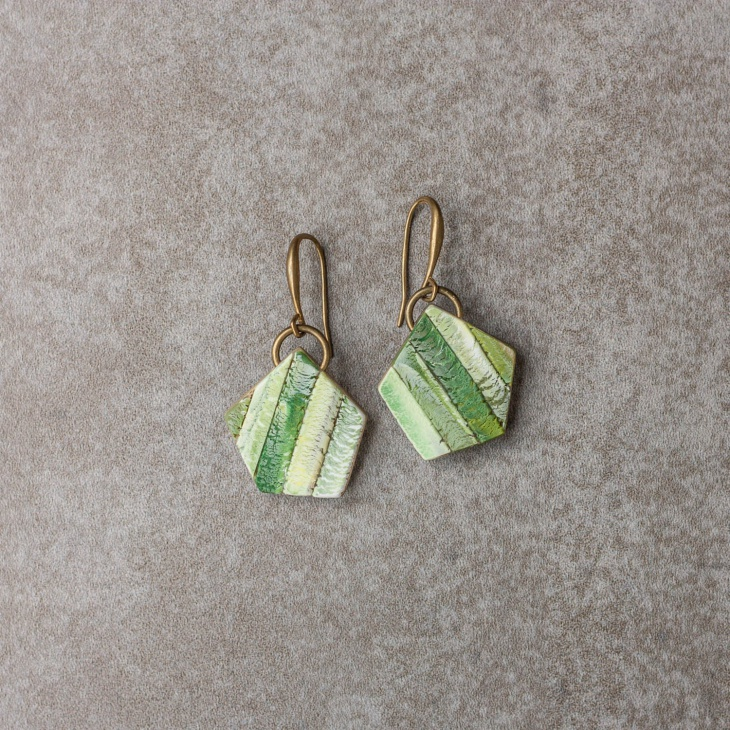 polymer clay geometric earrings