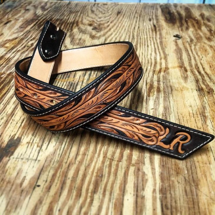 floral pattern belt model
