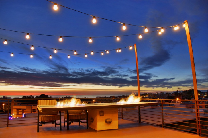 patio string lights design
