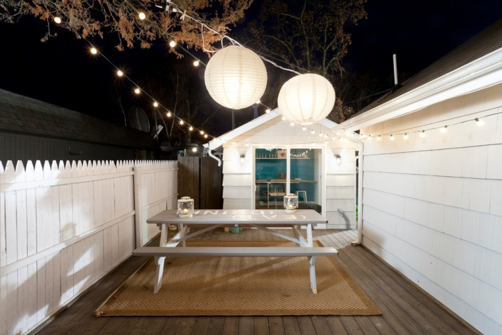 white string lights idea