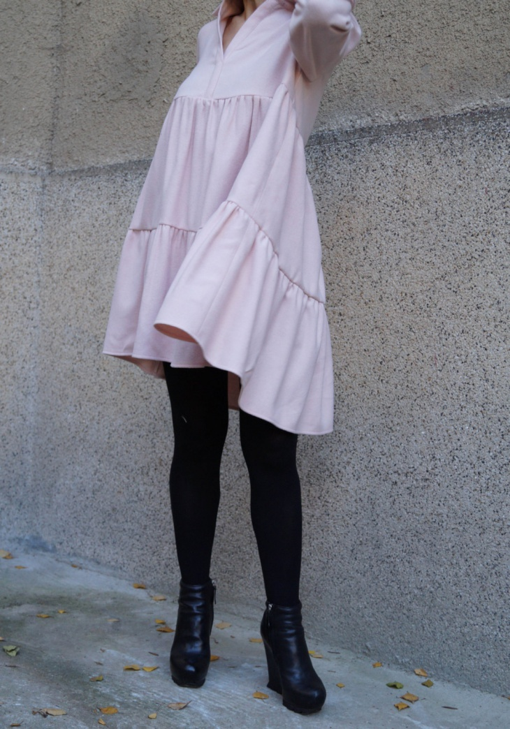 Asymmetrical Tiered Dress