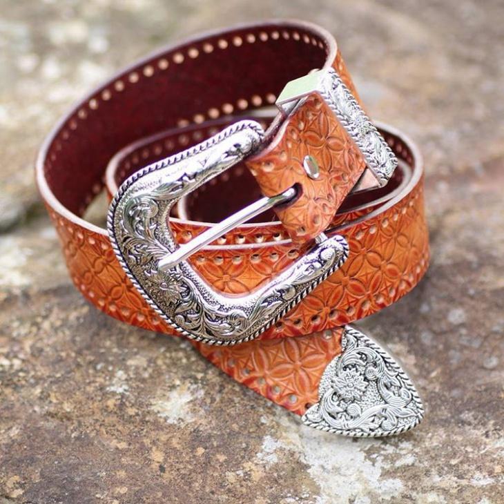 leather pattern belt