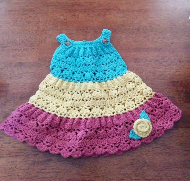 Crochet Tiered Baby Dress