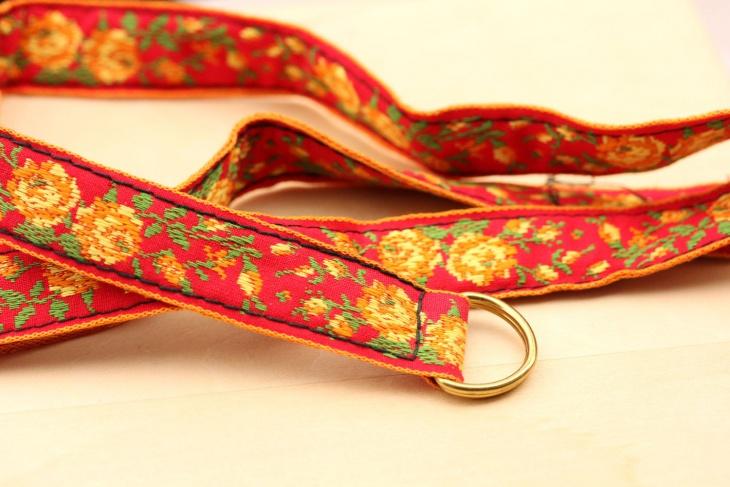 rose flower pattern belt