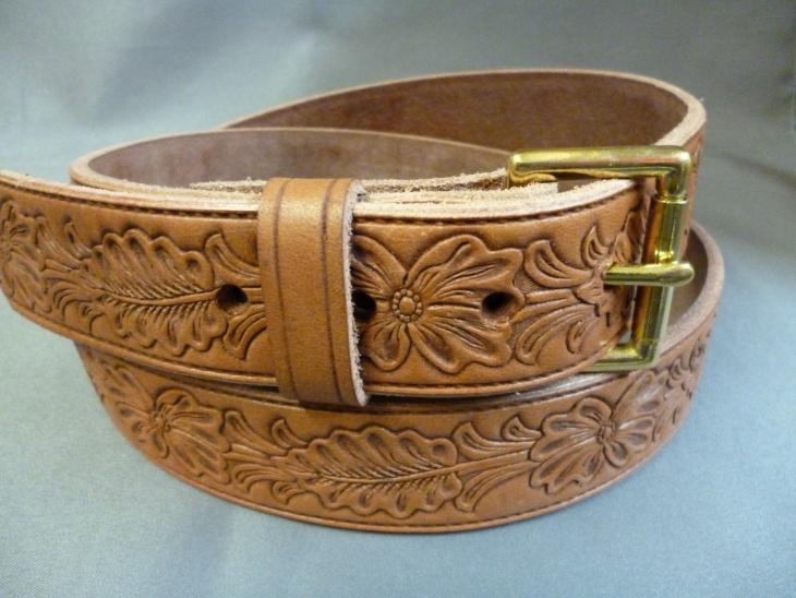 Handcrafted Leaf Pattern Belt