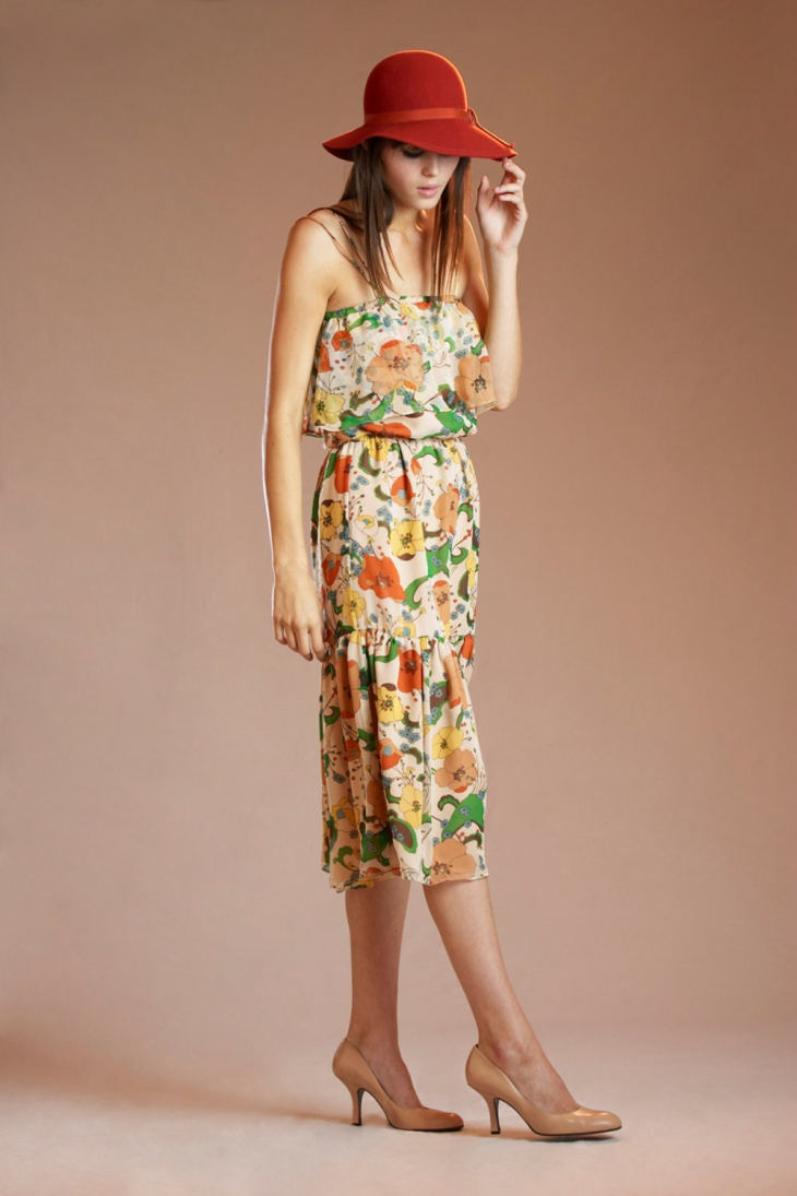 Multi Tiered Chiffon Dress