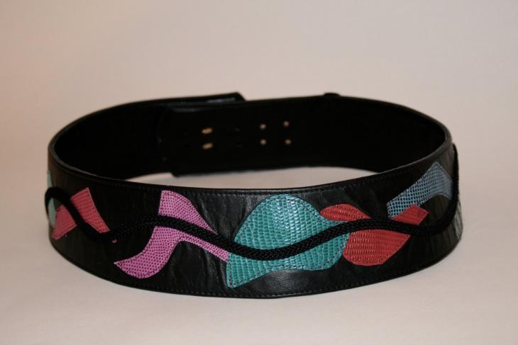 colorful pattern belt design