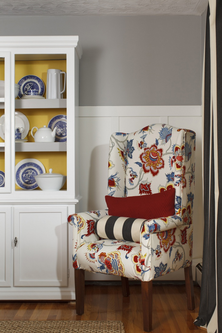 floral print arm chair