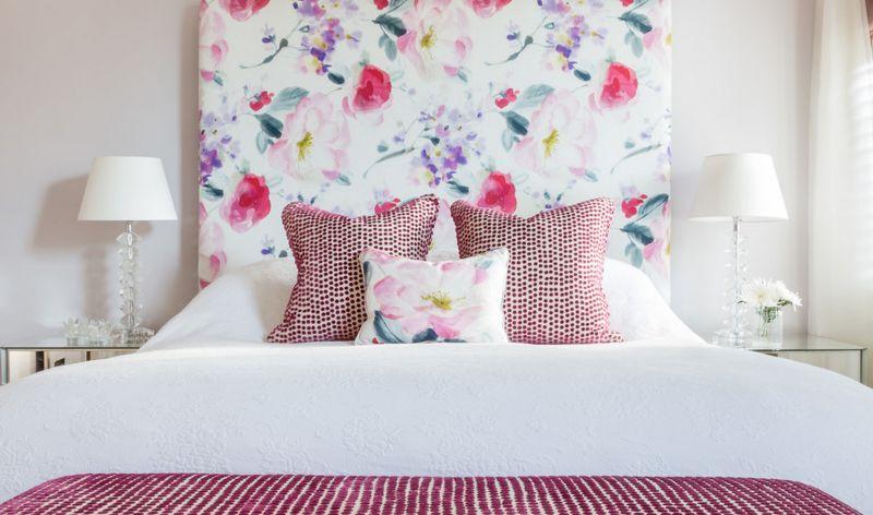 Floral Print Headboard