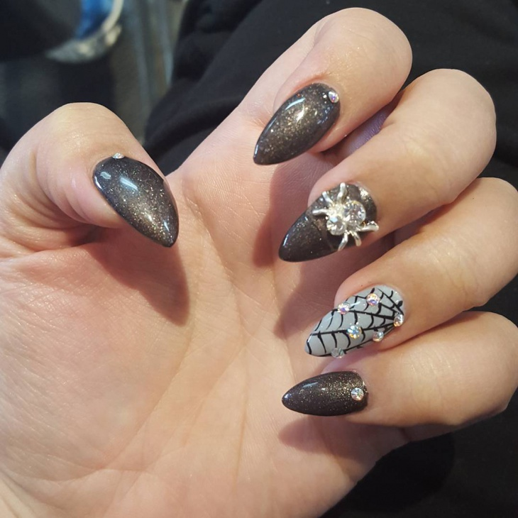 Halloween Spider Web Nails - 21+ Spider Web Nail Art Designs, Ideas Design Trends - Premium