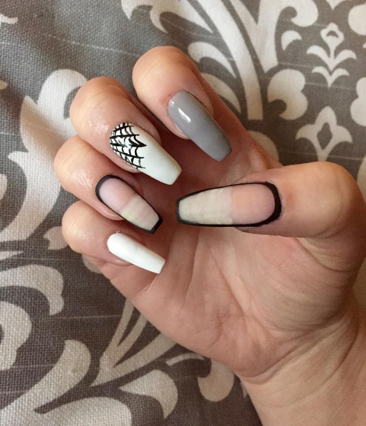 coffin spider web nails