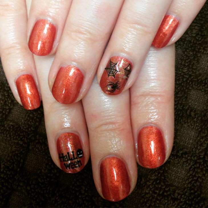 Simple Spider Web Nail Art