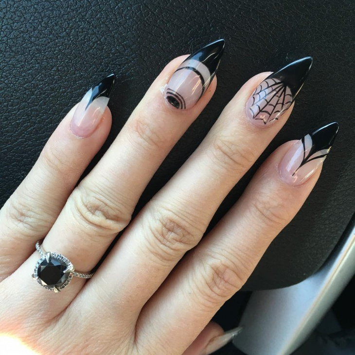 21+ Spider Web Nail Art Designs, Ideas | Design Trends ...