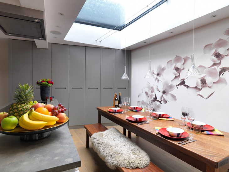large skylights dining