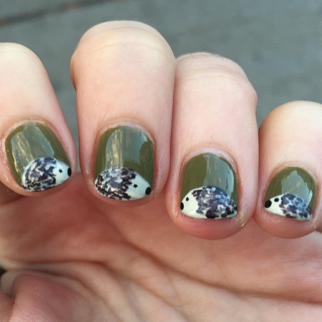 15 Nail Art Designs That Look Better On Short Nails: 15+ Hedgehog Nail Art Designs, Ideas