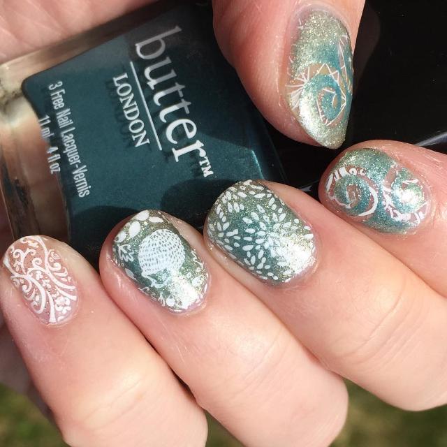 hedgehog gel nail art