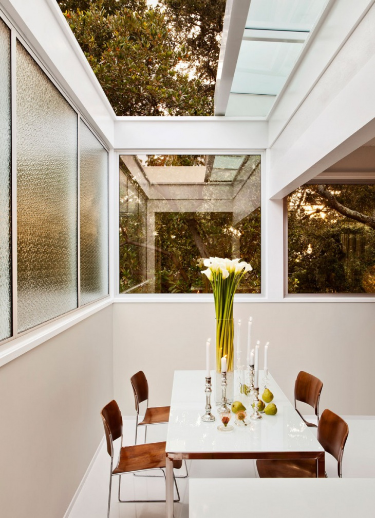 Modern Dining Room Skylights
