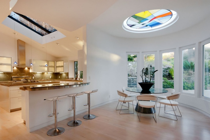 Dining Room Colorful Glass Skylight
