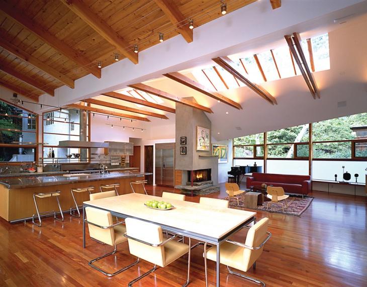 Modern Dining Room Skylight