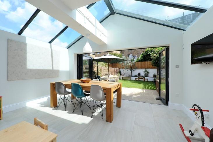 Traditional Dining Room Skylight