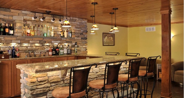 Img. A Rustic Home Bar ...