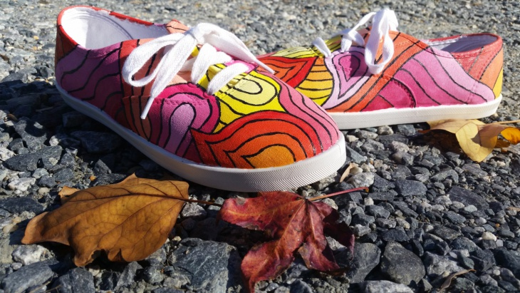 Sunset Graphic Shoes