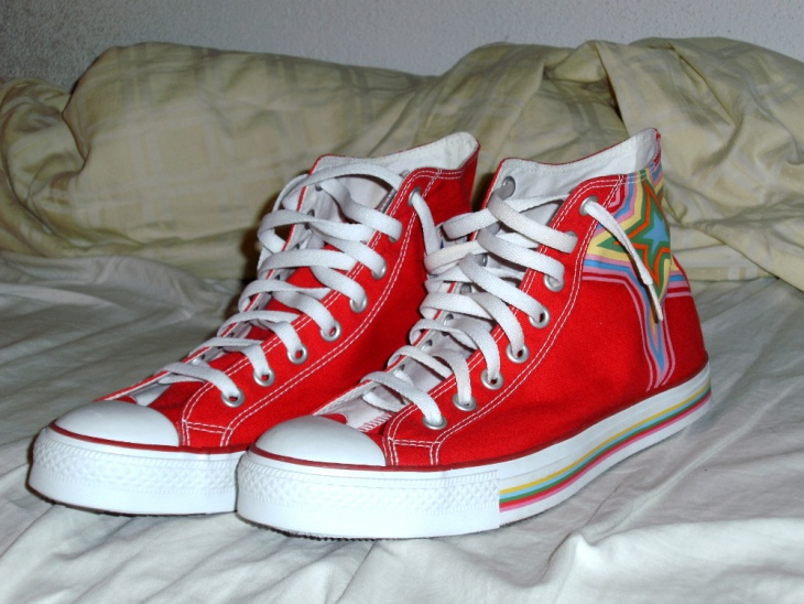 Graphic Star Red High Shoes
