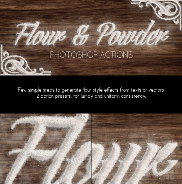 flour powder brush set
