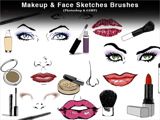 makeup photoshop brushes