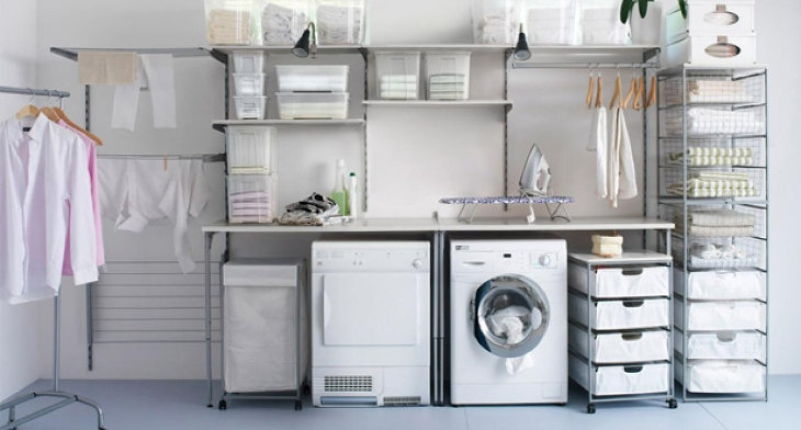 Laundry Room Shelving Designs