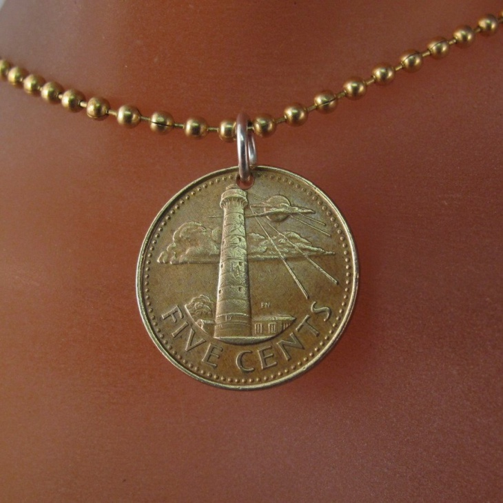 Gold Lighthouse Pendant necklace