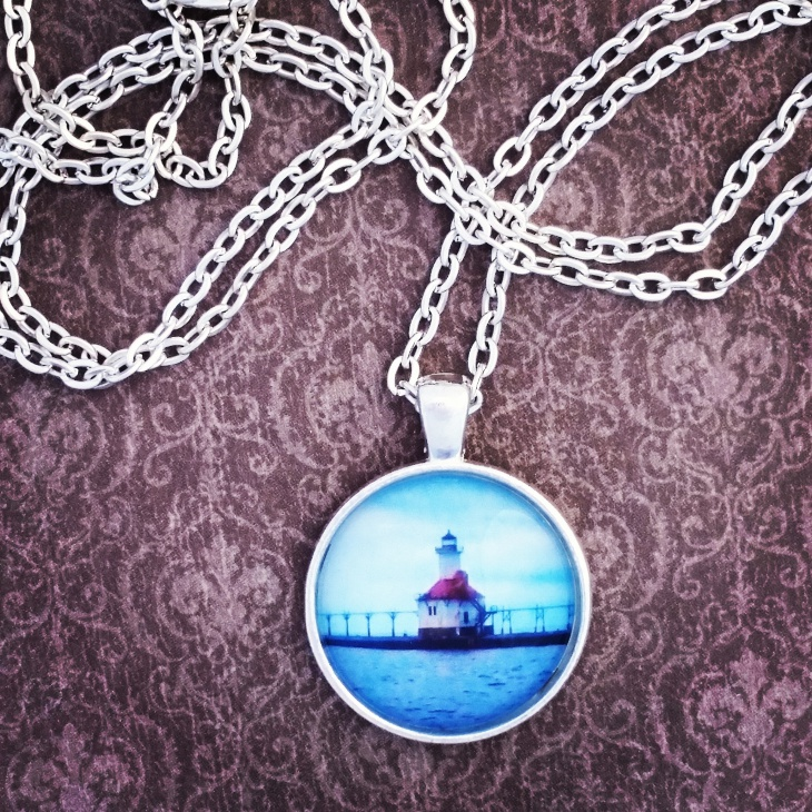 Silver Lighthouse Pendant