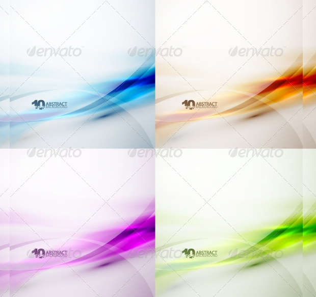 Colorful Water Waves Vector