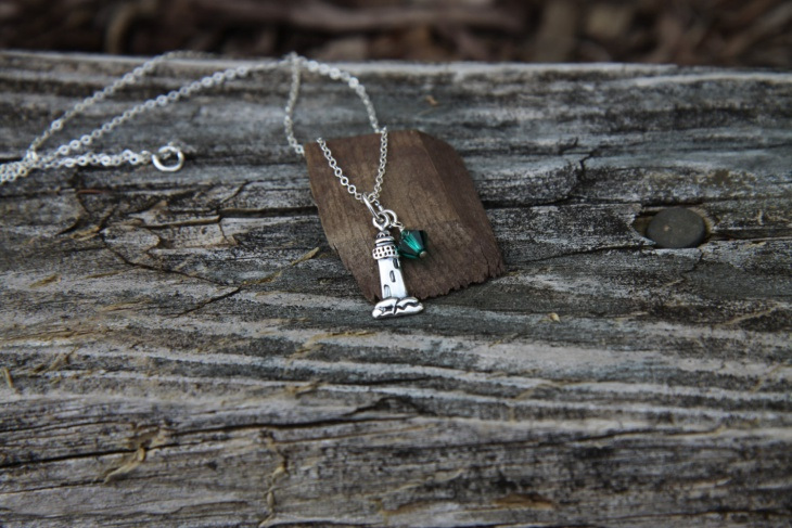 Lighthouse Birthstone Pendant Chain