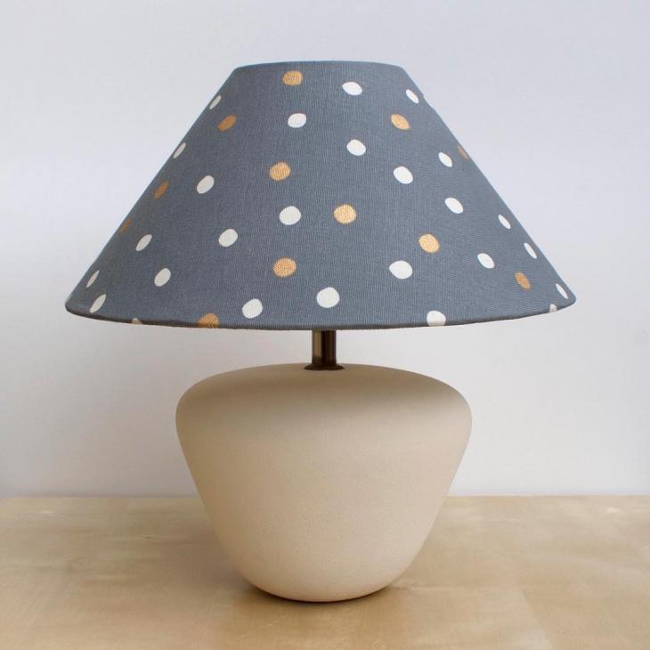 polka dot lamp shade idea
