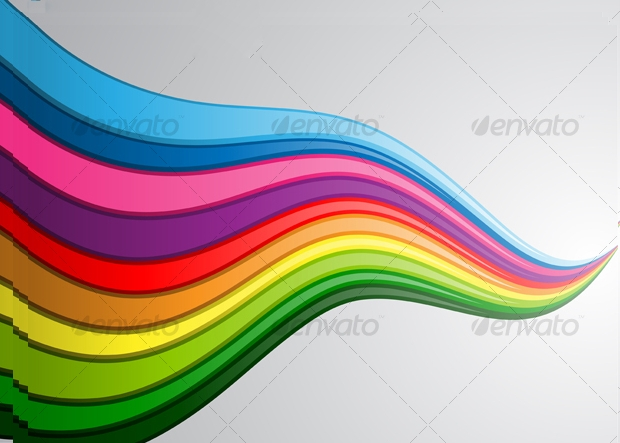 Rainbow Wave Vector Bagckground