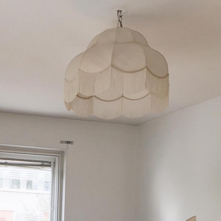 white drum chandelier idea