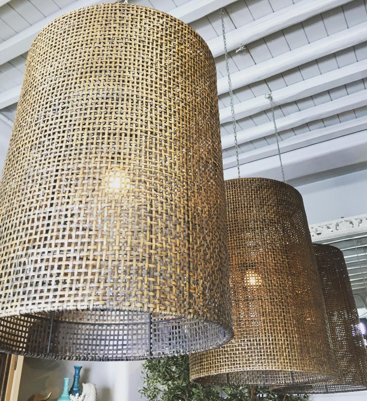 wooden drum chandelier idea