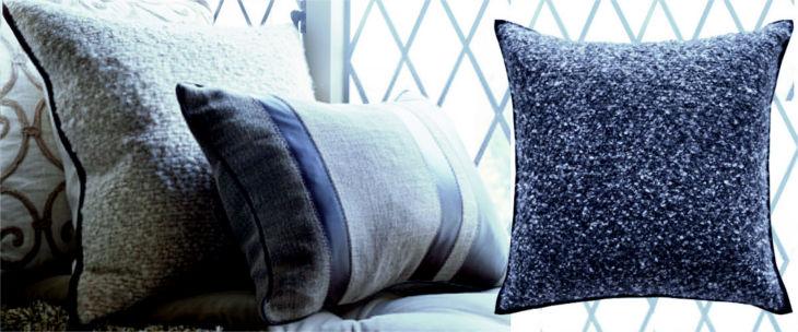 boucle cashmere cushion