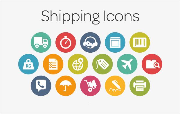 circle shipping icons