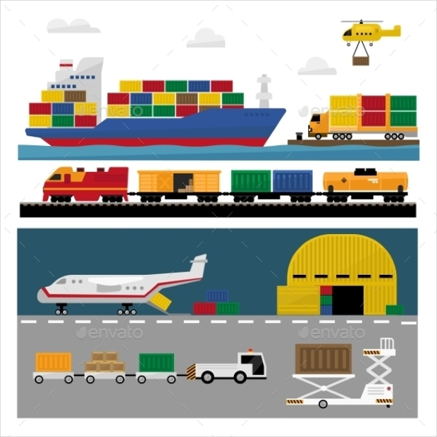 Flat Shipping Icons