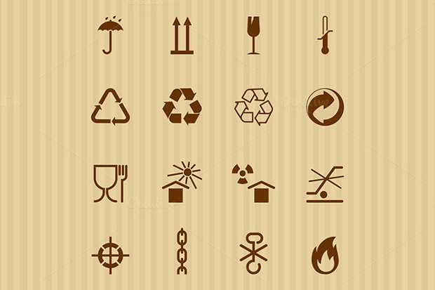 Packing and Shipping Icons Set