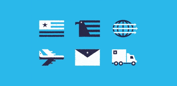 shipping tape icons
