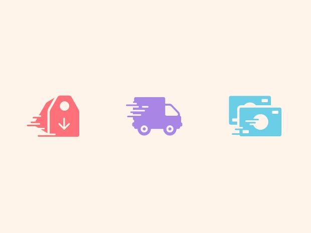e commerce shipping icons