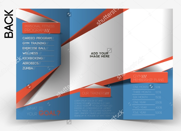 Fitness Training Trifold Brochure