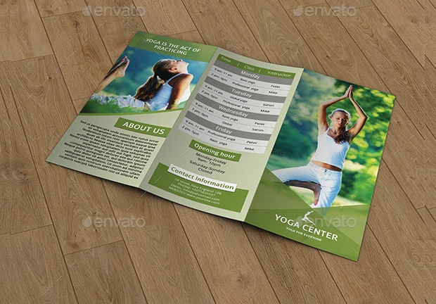 Trifold Yoga Training Brochure