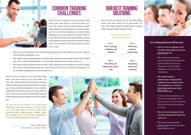 19 Training Brochure Designs And Templates Word Psd