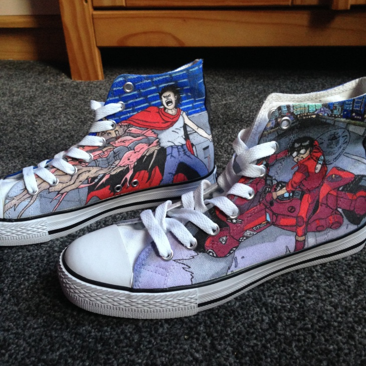 custom anime shoes design
