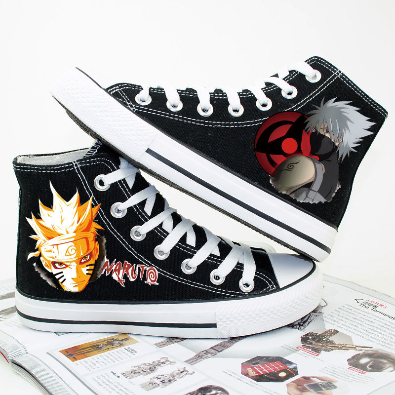 anime printed shoes design