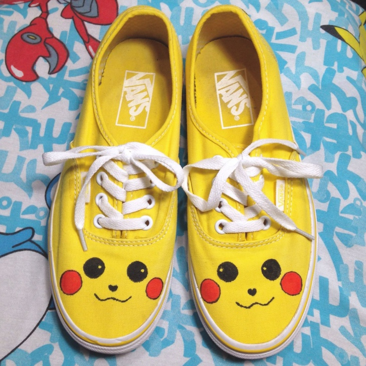 handmade pokemon anime shoes